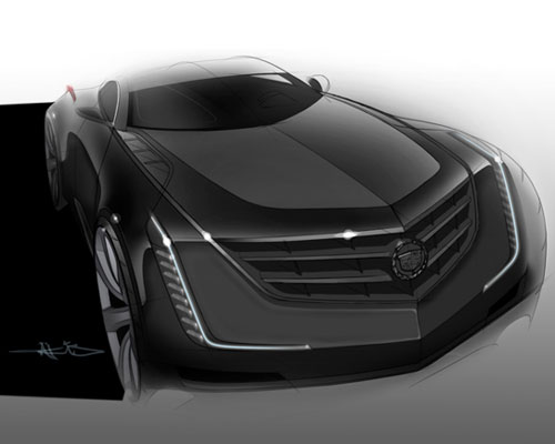 凯迪拉克elmiraj概念车 结构光三维扫描设计