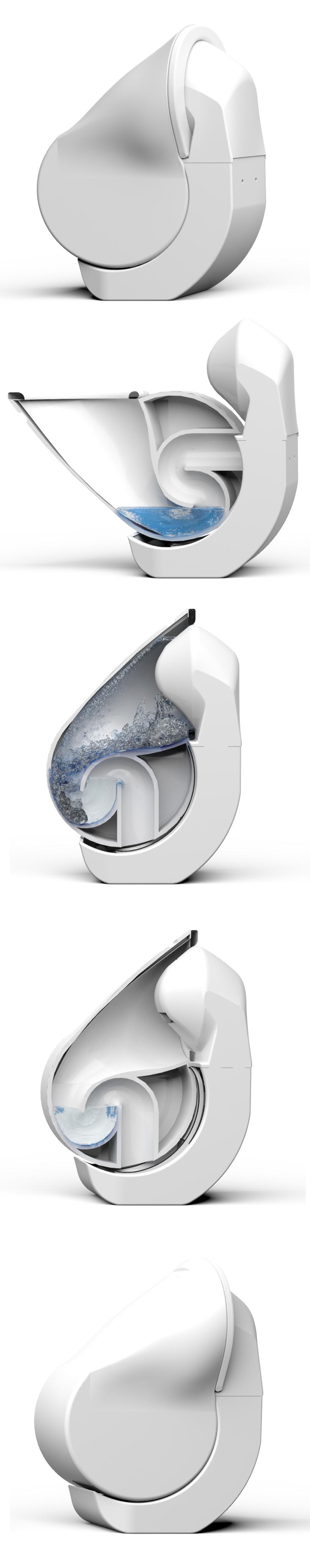 折叠马桶——可缩小尺寸并减少耗水量