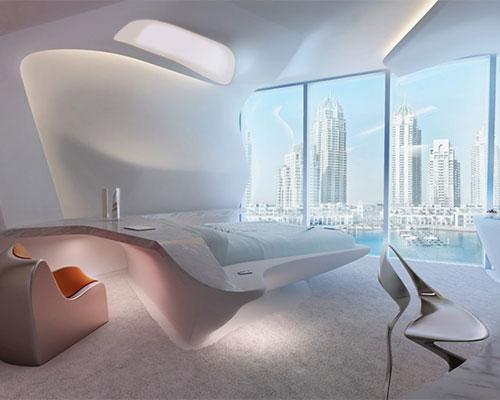扎哈·哈迪德为迪拜opus办公大楼进行室内设计