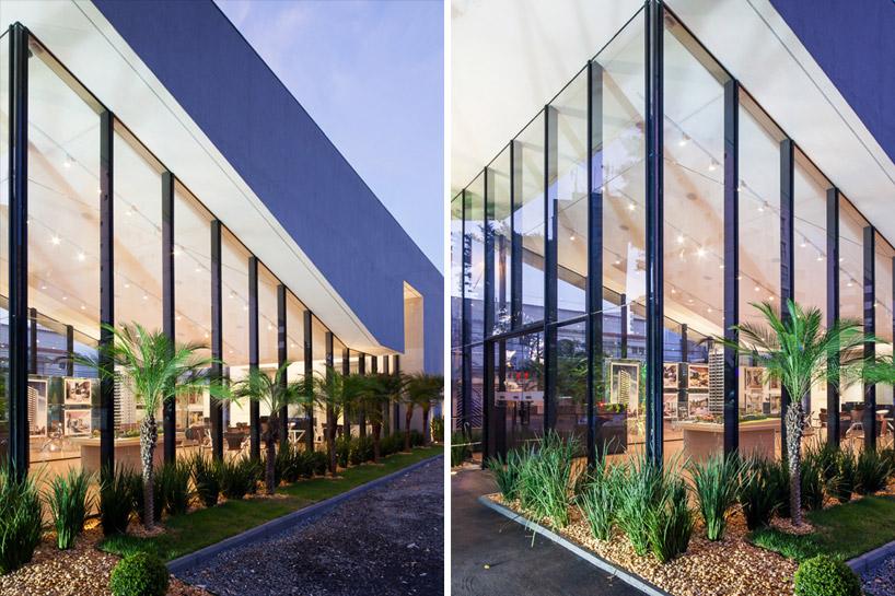 铝竖框支撑着斜面屋顶,保证了博物馆的采光 图片版权归leonardo finotti所有