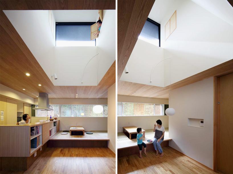 住宅主要生活空间上方的天井能提供自然照明和通风  摄影kei sugino图片
