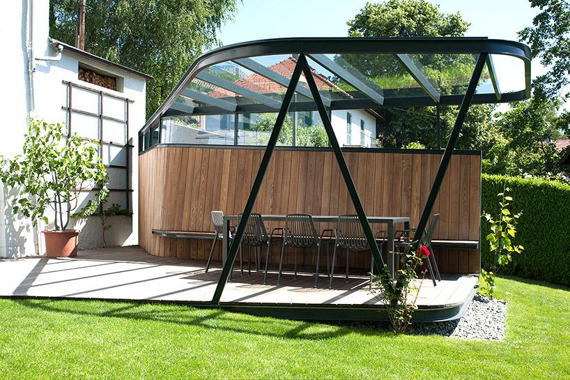 奥地利别墅钢结构屋顶平台