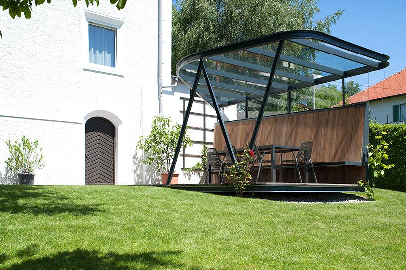 奥地利别墅钢结构屋顶平台- mario gasser 作品_设计