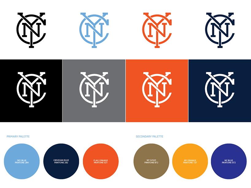 """工作室为""""纽约足球俱乐部""""设计队徽"""