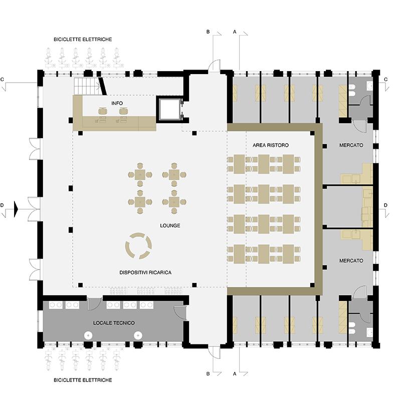 商场内部手绘平面图