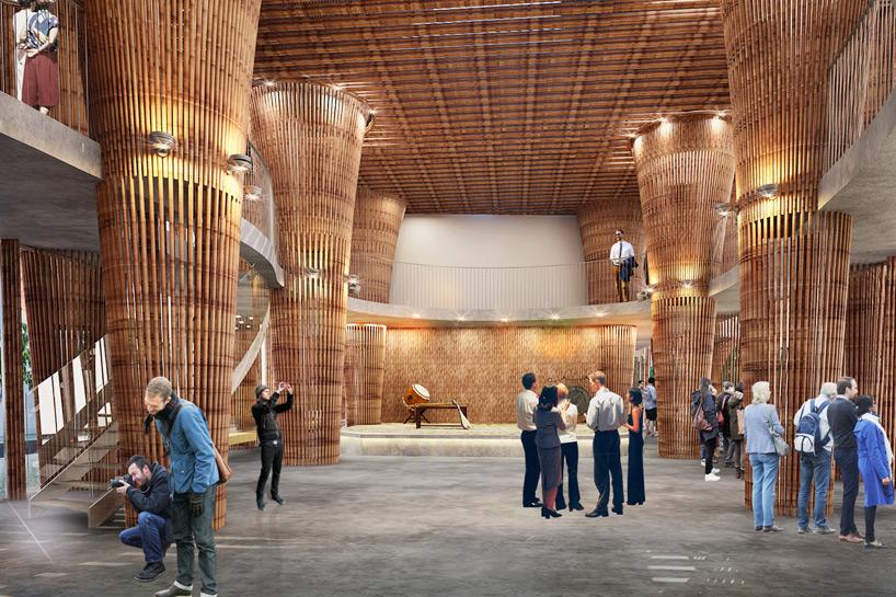 临时竹结构设计灵感来源于越南的国花-荷花