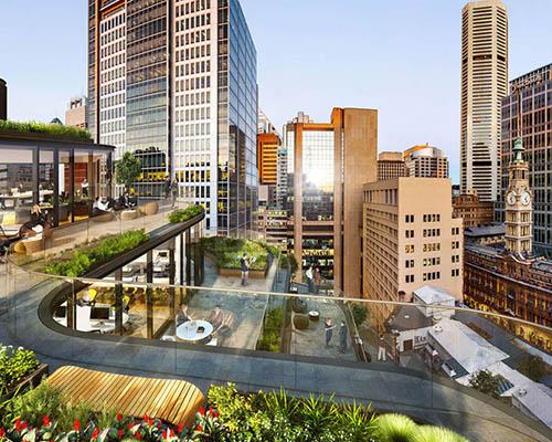 格雷姆肖建筑事务所 为悉尼多功能建筑设计层叠式屋顶露台
