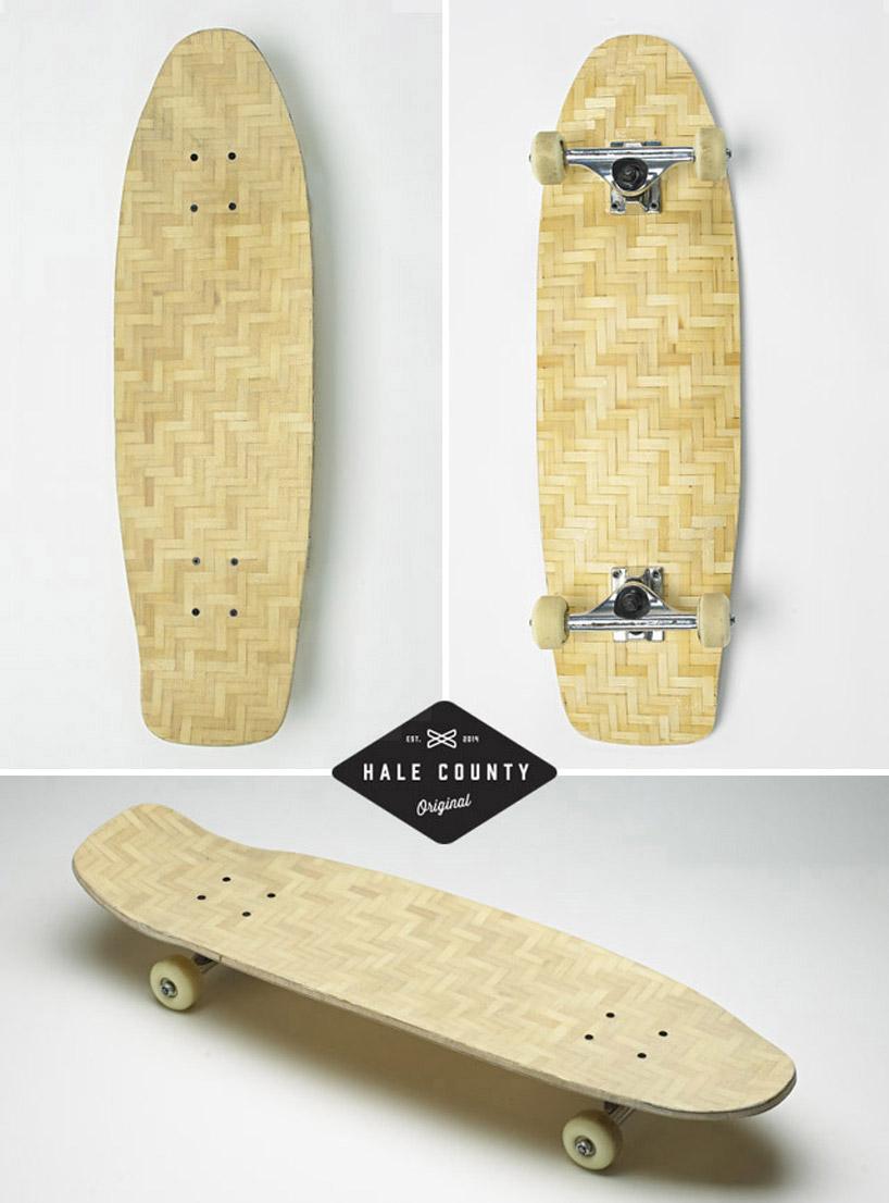 makelab与herobike合作推出竹编滑板_设计邦-全球最早图片