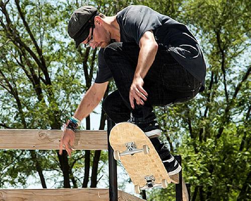 makelab与HERObike合作推出竹编滑板