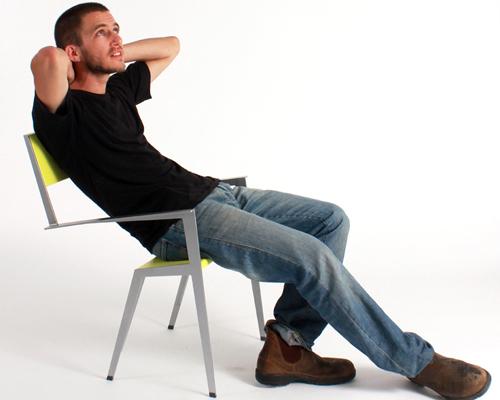 muli bazak的 chaisecourte 椅子:让人自然落座