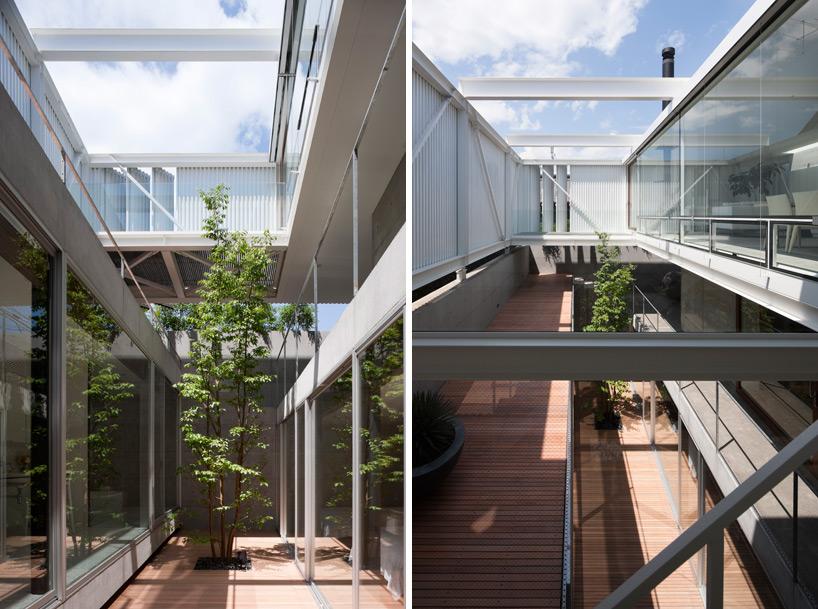 矢板( yaita )建筑设计研究所在东京设计带有封闭式天井的三层住宅图片