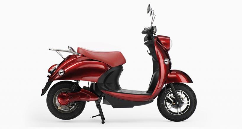 100 km range UNU electric scooter features portable battery unit-designboom-05