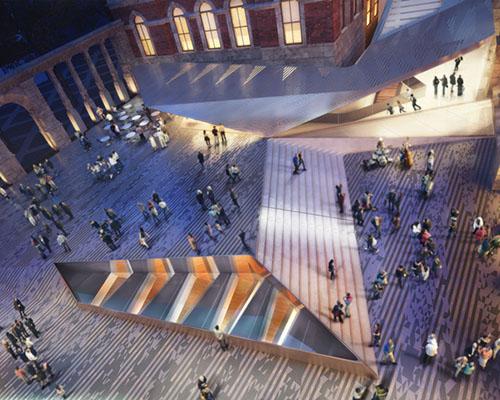为 AL_A设计的V&A展馆道路项目敷设瓷砖