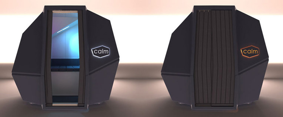 HAWORTH calmspace self-co<em></em>ntained pod is made for taking naps at work-designboom-10