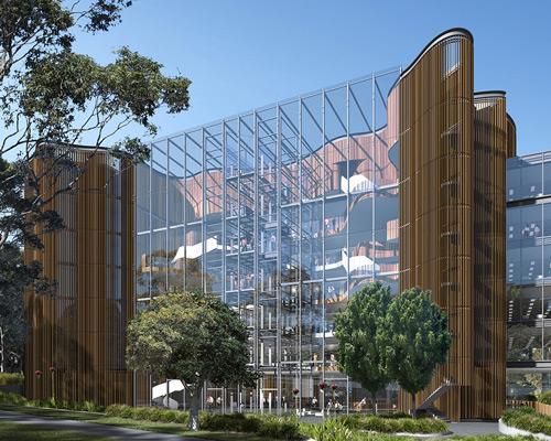 HDR | rice daubney建筑事务所为诺华公司澳大利亚总部设计建造曲线形木质外墙办公大楼
