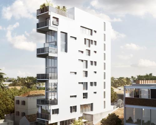 "IV department建筑工作室 设计建造的位于巴西圣保罗市郊区的""超瘦""公寓楼"