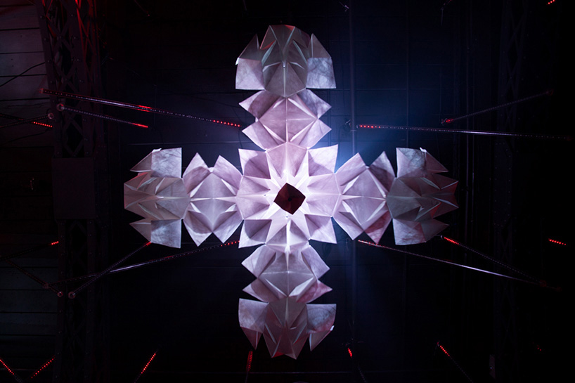 an interactive kinetic sculpture of origami-designboom-02