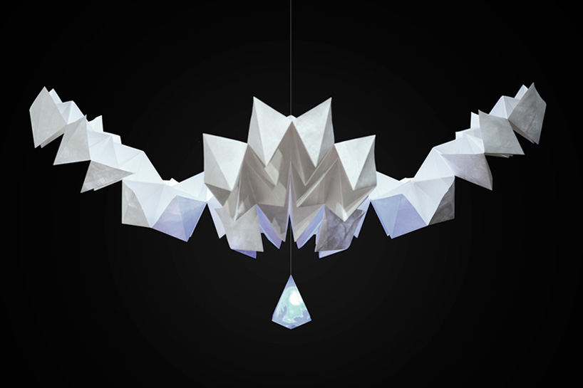 an interactive kinetic sculpture of origami-designboom-05