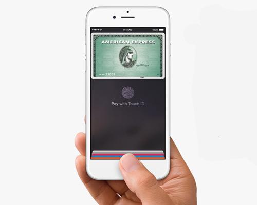 苹果无线 NFC 移动支付系统搭配指纹触碰touch ID令支付更安全