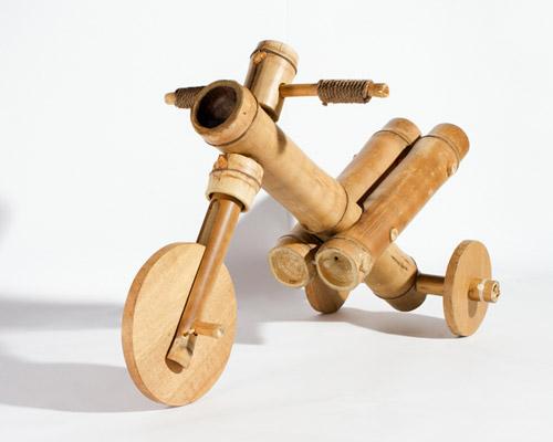 a21 studio 的竹木三轮车引导儿童亲近自然
