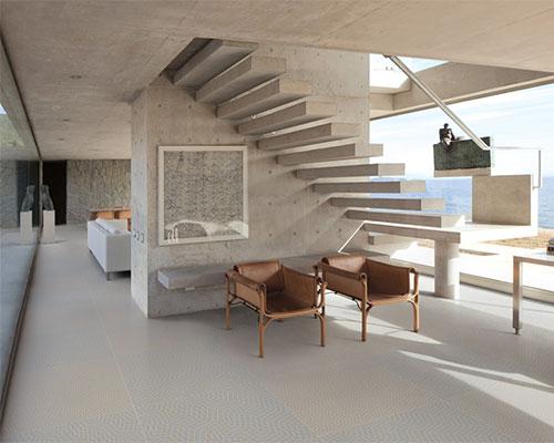 莱芬 在2014年博洛尼亚国际陶瓷卫浴展上展出mendini设计的FILO瓷砖