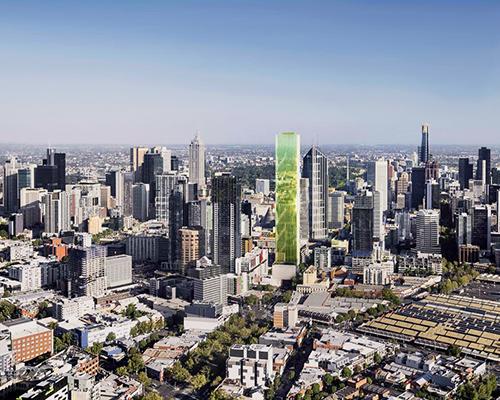 elenberg fraser 将墨尔本维多利亚一号公寓用绿色落地百叶窗覆盖起来