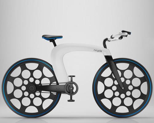 ncycle 可折叠电动自行车具有特色集成锁与储物口袋