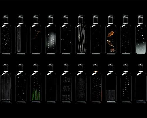 Nendo 在2014年的巴黎时尚家饰展上展出雨瓶