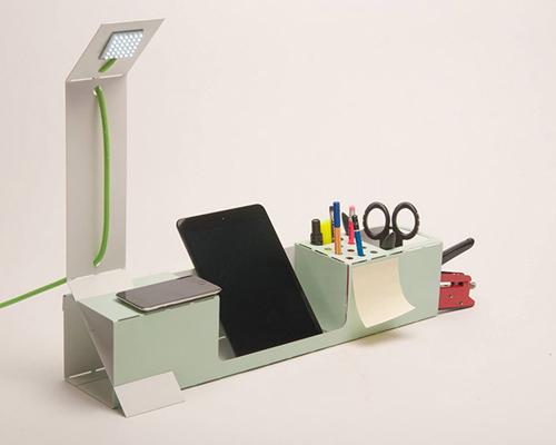 由激光切割的 .ORG : 耐用且质轻的折叠式桌面收纳盒