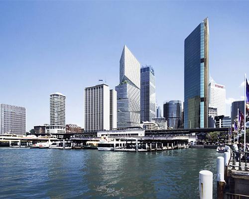 3NX设计quay quarter大楼遥望悉尼歌剧院的码头区塔楼