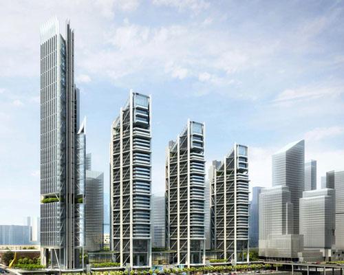 Rogers Stirk Harbour事务所为阿布扎比的maryah广场进行摩天大楼规划设计