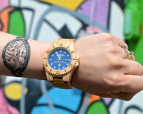 SPGBK 用旧枫木制成的腕表系列