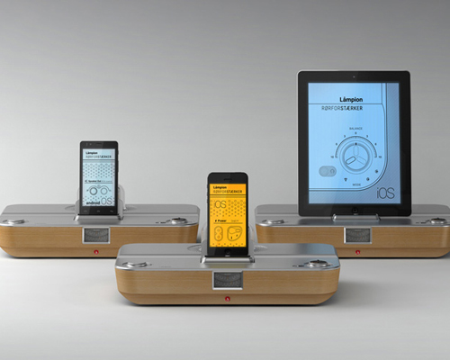stefan radev + partners为苹果和安卓系统设备设计的真空管扬声器