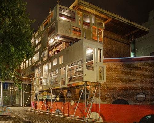 Stéphane Malka 荷兰广场上设计依附涂鸦墙的流浪者之家