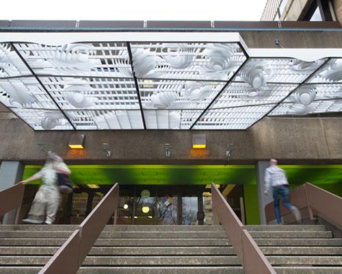 faulders工作室设计波特兰entrium轻云顶棚