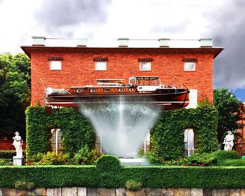 "Visiondovision 在瑞典设计的""宾客港湾""将船只作为侧屋"