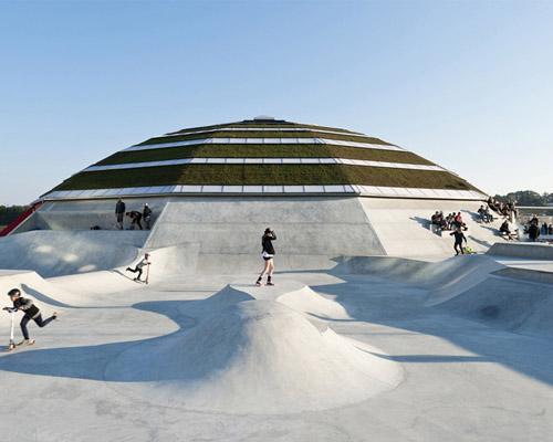 CEBRA and glifberg+lykke携手设计丹麦海滨的圆顶建筑公园
