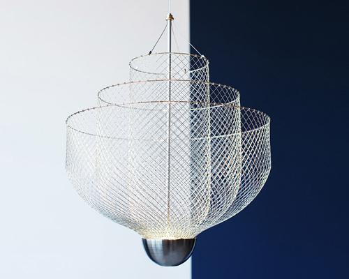 atelier rick tegelaar为荷兰设计周设计的分层吊灯 meshmatics chandelier