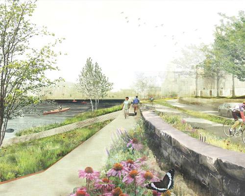 """明尼阿波利斯滨河公园的"""" 水工程 """"项目方案"""
