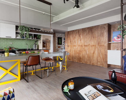 """House Design 工作室重新定义传统台湾厨房,打造""""家庭乐园"""""""