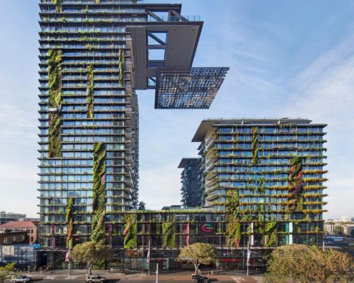 """尽享郁郁葱葱的垂直花园, 让·努维尔 设计悉尼""""一号中央公园"""""""