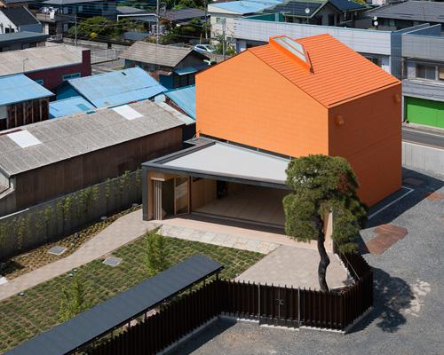 坂牛卓在日本设计了一座 橙色 表皮的办公楼