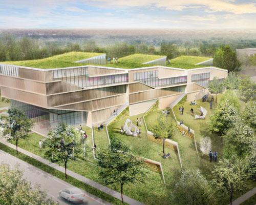 """Weiss /Manfr事务所在肯特州立大学设计的"""" design loft """""""