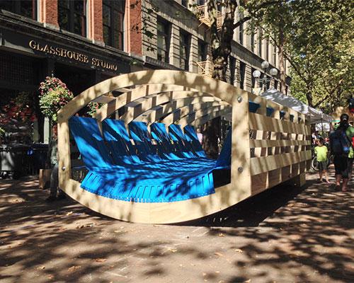 2014年西雅图设计节上的 编织摇杆 跷跷板