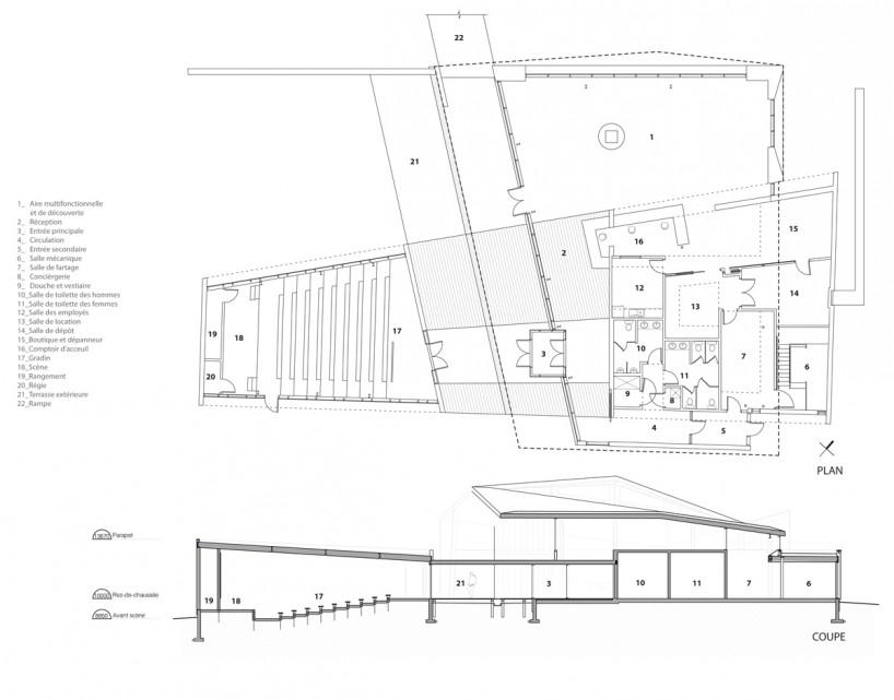 原木结构建筑剖面