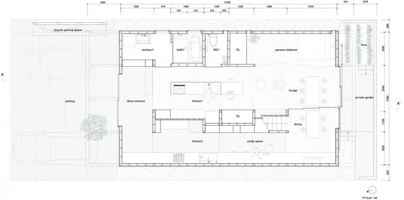 佐佐木胜敏 建筑事务所融合公共空间与私人空间,打造羽根北之家