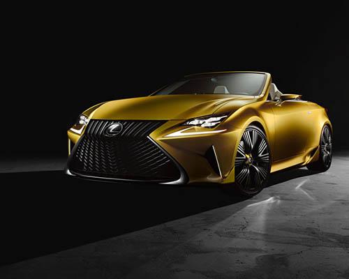 户外型金色 雷克萨斯 LF-C2概念车,灵感来源于运动型轿跑车