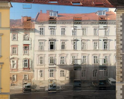 "HoG 建筑师事务所奥地利历史名城市中心设计反射住宅""stadthaus ballhausgasse"""