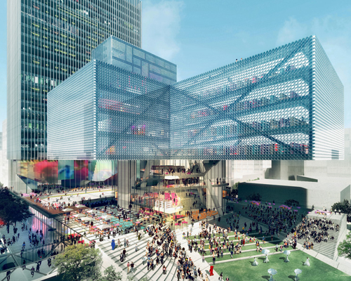 REX 建筑事务所的卡尔加里的新中央图书馆竞赛方案