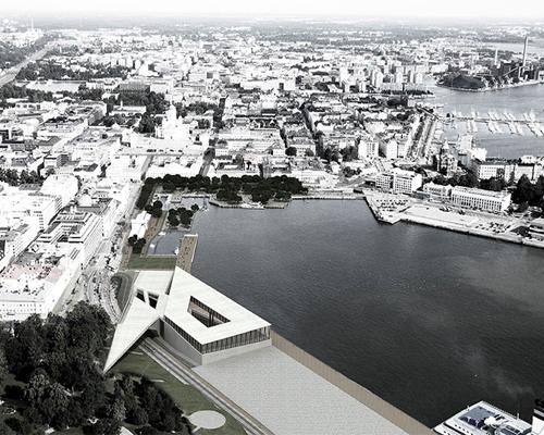 Exarchitecture 事务所的赫尔辛基古根海姆博物馆方案演绎光线+透明性